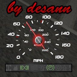 Спидометр с индикаторами