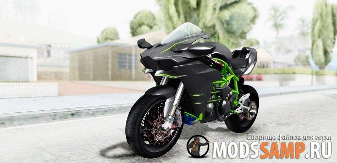 Kawasaki Ninja H2R Black для GTA:SA