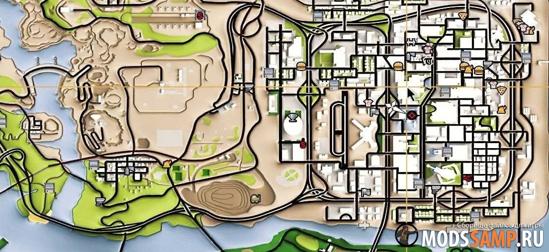 Remaster Map для GTA:SA