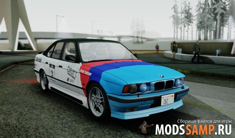 BMW M5 E34 US-spec 1994 (Full Tunable) для GTA:SA