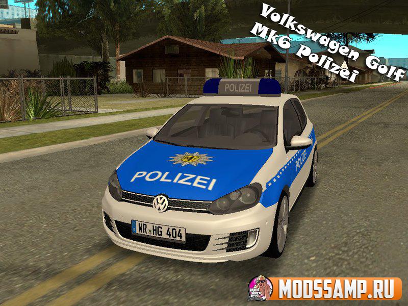 Volkswagen Golf Mk6 Polizei для GTA:SA