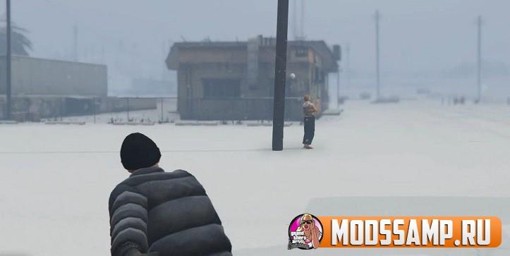Мод на Снежки для GTA 5
