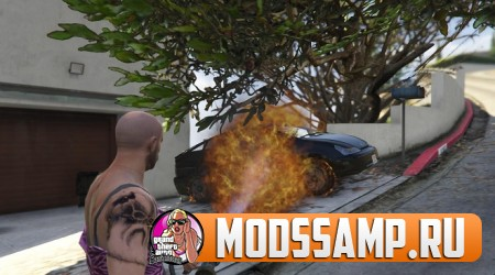 Real Flamethrower (огнемёт) для GTA 5