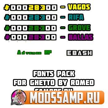 Набор шрифтов для ГЕТТО от romeo