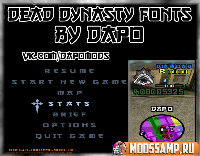 Шрифт DEAD DYNASTY от DAPO