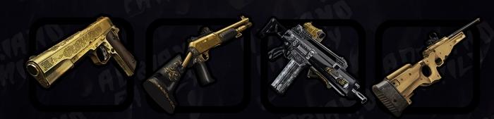 Пак золотистого оружия