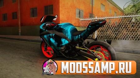 Мотоцикл Kawasaki Ninja 250 FI Smoke Tech для GTA:SA