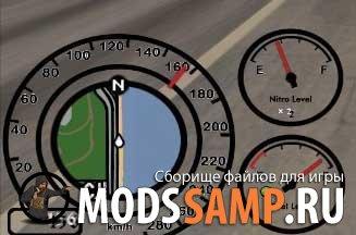Спидометр с индикатором бензина